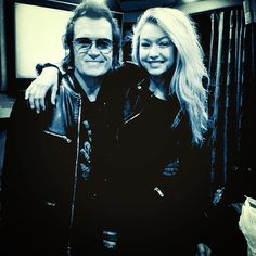 Yours truly and my friend GiGi Hadid ...the sweetest and most grounded supermodel on the planet.