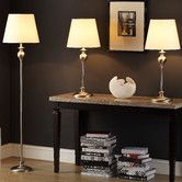 Found it at Wayfair - Cortona 3 Piece Table Lamp and Floor Lamp Set. Would have to change the lamp shade but love the base.