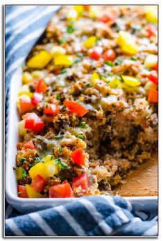 Ground turkey quinoa casserole made healthy and juicy with spinach, ground turkey, tomato sauce, breadcrumbs and cheese. what a budget friendly crowd Ground Turkey Nutrition, Healthy Ground Turkey, Ground Turkey Recipes, Ground Turkey Quinoa Recipe, Meals With Ground Turkey, Ground Meat, Healthy Casserole Recipes, Healthy Recipes, Casserole Ideas