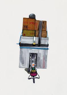Bombay Duck Designs: Studio of Indian illustrator and visual artist, Sameer Kulavoor. Om Namah Shivaya, Poster Design Inspiration, Cycling Art, Chemist, Incredible India, Indian Art, Mumbai, Illustrator, Folk