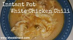 One of my FAVORITE slow cooker recipes converted to make in my Instant Pot! This Instant Pot White Chicken Chili is sure to please! Aldi Recipes, Chili Recipes, Cooking Recipes, Recipies, Yummy Recipes, Soup Recipes, Chicken Recipes, White Chili, White Chicken Chili