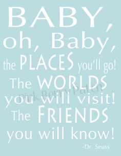 Dr. Seuss Modern Art Typography Print.  Nursery by pinkberrypatch, $15.00. For Decor