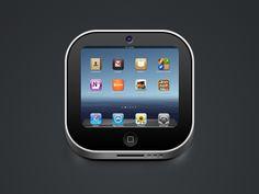 Cool iPad icon found on Dribbble.