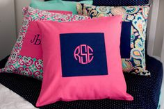 A personal favorite from my Etsy shop https://www.etsy.com/listing/493947444/monogram-pillow-covers-emerson-paisley