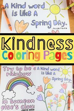 Use these kindness coloring pages from Coffee and Carpool to help fight boredom and encourage kindness while kids color these kindness coloring sheets. Grab these fun coloring sheets.