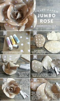 11. #Jumbo Roses - So Many #Pretties! Let's All Make These #Paper Flowers #Right Now ... → DIY #Orchids