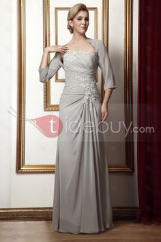 Gorgeous Column One-Shoulder Floor-Length Alina's Mother of the Bride Dress : Tidebuy.com