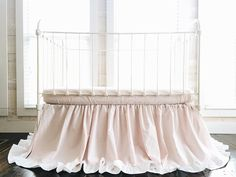 Gray American Baby Double Layer Ruffled Crib Skirt and Ultra Soft Microfiber Fitted Crib Sheet Bundle