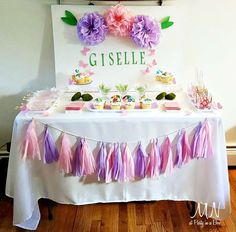 Butterflies and flowers christening party! See more party planning ideas at CatchMyParty.com!