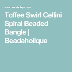 Toffee Swirl Cellini Spiral Beaded Bangle    Beadaholique