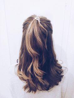 Haarfärbe Trend 2017: Aus Ombré wird Balayage. Mittellange Haare, Locken, Blond, Braun, Halfbun