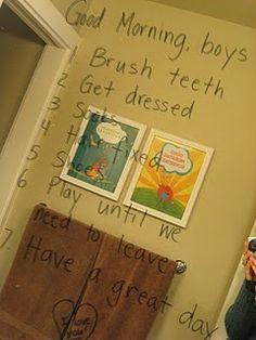 Mirror Chores list