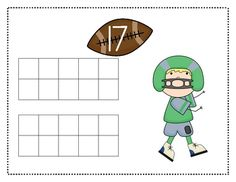 Here's a set of football themed ten frame mats for the numbers 11-20.