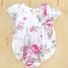 Portland Floral Short Sleeve Tea Party Romper