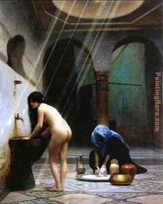 Jean-Leon Gerome A Moorish Bath Turkish Woman Bathing No 2 painting for sale, this painting is available as handmade reproduction. Shop for Jean-Leon Gerome A Moorish Bath Turkish Woman Bathing No 2 painting and frame at a discount of off. Most Famous Paintings, Famous Artists, Paintings For Sale, Oil Paintings, Jean Leon, Oil Canvas, Academic Art, Turkish Bath, Oil Painting Reproductions