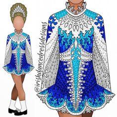 design 784 royal blue, turquoise, and white for 💙💙💙 Irish Step Dancing, Irish Dance, Dress Sketches, Dance Dresses, Dance Costumes, Dream Dress, Beautiful Dresses, Designer Dresses, Dancer