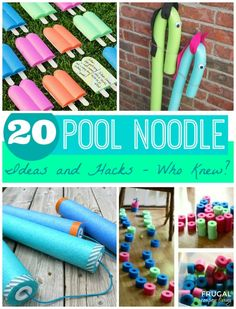 20 Pool Noodle Ideas and Hacks - Who Knew!?! Summer Fun for the Kids and other Home Ideas found on Frugal Coupon Living.