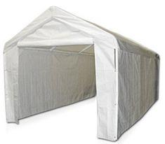 Caravan Canopy Side Wall Kit for Domain Carport, White