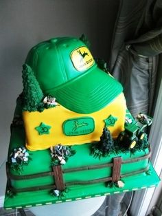 """A """"manly"""" John Deere Cake By RSReitz on CakeCentral.com"""
