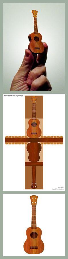 Guitarra de paracho en papel.