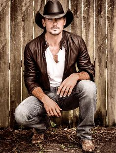 Tim McGraw. Ok, so he might not be my favourite country singers, but he's my boyfriends favourite.