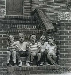creepy portraits | Ghost Hunting Theories: Huge Collection of Vintage Halloween Photos