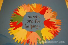 Hands are for Helping Poster