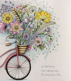 For the May event in our sweet Facebook group Fans of Rita Berman's Colouring Books From @rita.berman's beautiful Mein Frühlingsspaziergang; FC Polychromos, and a few Prismas for the background; #ritaberman #meinfrühlingsspaziergang #coloringbook #colouringbook #bayan_boyan #enchantedcoloring #colorindolivrostop #coloring_masterpieces #coloring_secrets #docepapelatelier #arte_e_colorir #coloring_secrets #coloring_masterpieces #arte_e_colorir #beautifulcoloring #fangcolourfulworld #...