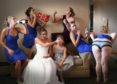 Fun wedding photo ideas  Lets not go THIS far (I don't need underwear shots!) but we are a rowdy bunch for sure... @Style Space & Stuff Blog magee @Brooke Williams King @Célia Tasca Amill @Tamara Walker Crackenberger Roach