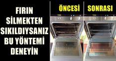 Fırın temizliği yıllardır başımızın belası olmuştur ve mutfak araç gereçleri arasında en zor temizlenen aletlerden birisidir fırın. Marketlerde satılan fırın temizleyici maddelerin birçoğu kostik ve amonyak gibi toksik ürünler içerir ve sağlığınız için ciddi derecede zararlıdır. Sprey halinde Turkish Kitchen, Diy Home Crafts, French Door Refrigerator, Clean House, Tricks, Cleaning Hacks, Helpful Hints, Home Improvement, Oven