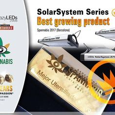 🏆Well done to our sister company Crazy LEDs who won the 'Best Grow Product' at Spannabis 2017 with the SolarSystem family of LED grow lights.🏅 Built in the USA, they feature 5W Osram diodes, professional grade performance, adjustable spectrum and power. The best grow lights we have seen. 💡💡💡Available here ➡️http://www.crazy-leds.com/en/shop/product/solar-system-550-led-grow-light/    @calightworks   #crazyleds #solarsystem550  #ledgrown #led #ledgrowlights
