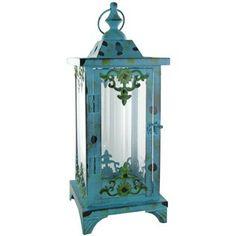 Large Turquoise Metal Lantern | Shop Hobby Lobby