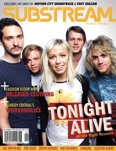 TONIGHT ALIVE is the one band that I would like to see in concert sometime. I got their first CD and I enjoyed listening to it.