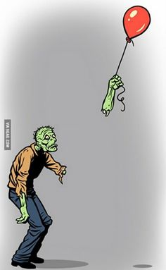 Sad zombie is sad.