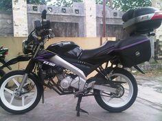 Modifikasi motor Yamaha Vixion untuk touring