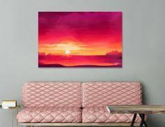 Discover «A Panoramic Sunset», Numbered Edition Canvas Print by Fotios Pavlopoulos - From $49 - Curioos
