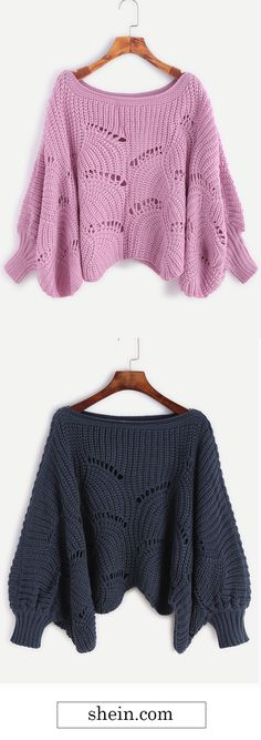 Lantern Sleeve Hollow Sweater Collect.