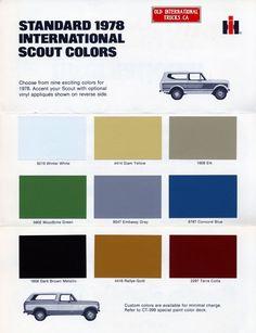 Color Charts :: 1978 scout colors