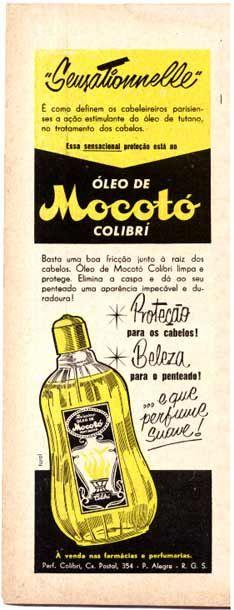 anúncio de óleo de Mocotó