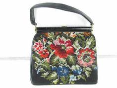shopgoodwill.com: Vintage J.R. Florida Handbags Floral Design Purse