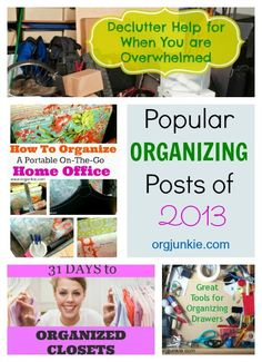 Popular Organizing Posts of 2013 at I'm an Organizing Junkie