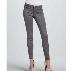 J Brand NWOT Super Skinny Grey Jeans NWOT never worn J Brand Super Skinny in Grey. Super soft, perfect condition. Flexible on price! J Brand Jeans Skinny