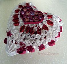 3d heart shaped ornament with hearts