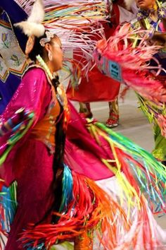 Fancy shawl dancers twirling