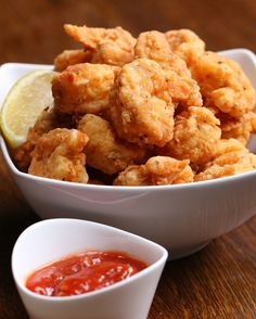 Popcorn Shrimp 53 Insanely Popular Party Food Recipes You Need In Your Life Shrimp Appetizers, Shrimp Dishes, Fish Dishes, Appetizer Recipes, Fish Recipes, Seafood Recipes, Cooking Recipes, Popcorn Shrimp, Good Food