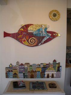 Fantástico mosaico de Irina Charny. Los colores y el oro muy bien utilizados y la ilustración es muy original. Enhorabuena.