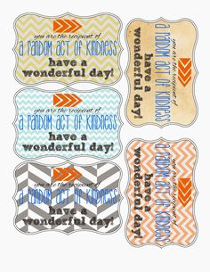 Random Acts of Kindness - printables