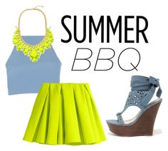 """summer bbq"" by annieanne-tumblr13 ❤ liked on Polyvore featuring Topshop, H&M and Bamboo"