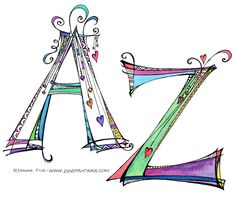 Zenspiration monograms by Joanne Fink, she's absolutely amazing, inspiring, and her work is stunning!