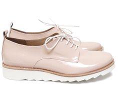 Chaussures Femme Derby Printemps Eté 2015 Maurice Manufacture BEVERLY Verni nude